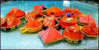 Life Raft Test 2000 Click Image for List of Rafts in Photo