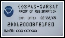 NOAA proof of registration decal