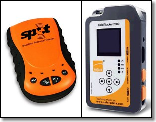 SPOT (left) Solara Field Tracker 2000 (right)