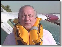 Barry Schiff demonstrating use of a life vest - from his PROFICIENT FLYING, Volume 2 video.
