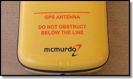 McMurdo GPS Antenna Warning