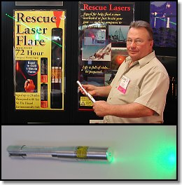 Jim O'Meara with his prototype Green Laser