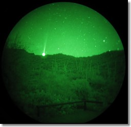 Green Laser viewed through NVGs