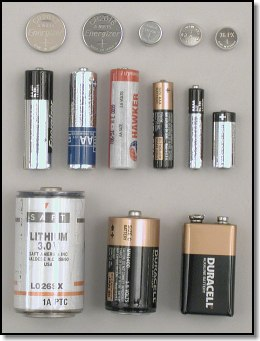 Batteries from our test LED flashlights