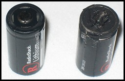 Exploded Lithium 123-cell Batteries