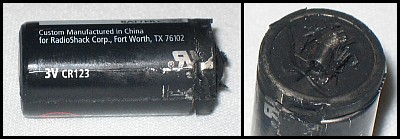 Failed Lithium Battery