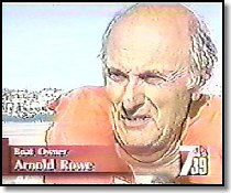 Arnold Rowe on the news after the rescue