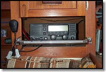 HF Radio after adding protective bar