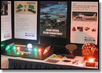 Avimo booth with LED nav and beacon  lights