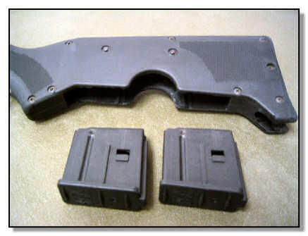 2 ten round magazines from the butt stock
