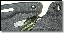 SOG Groove sheath cutting webbing