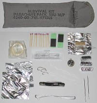 SRU-16/P Parachute Pack Survival Kit