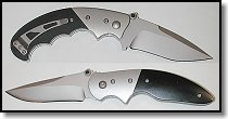 Timberline Lightfoot folders - Pistol Grip (top), Zambezi Back Up (bottom)