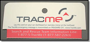 TracMe Dash Card