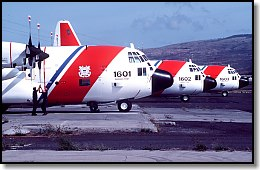 USCG C-130s on the ramp at Barbers Point, HI